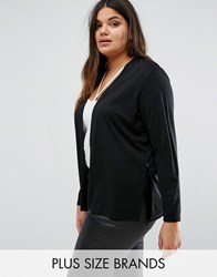 Junarose Plus Jersey Cardigan Black
