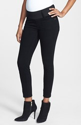 Women's Maternal America Maternity Skinny Ankle Stretch Jeans Black