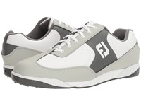 Footjoy Greenjoys Spikeless Retro Court White Grey Charcoal Men's Golf Shoes Gray