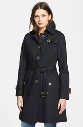 Women's Pendleton 'Pacific Crest' Single Breasted Trench Coat Black