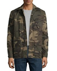 Ovadia And Sons Camo Print Field Shirt Jacket Green Green Pattern