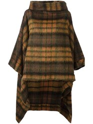 Vivienne Westwood Anglomania Checked Poncho Orange