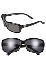 Women's Zeal Optics 'Zeta' 61Mm Plant Based Polarized Sunglasses Black Gloss Dark Grey