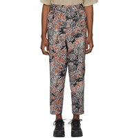 3.1 Phillip Lim Tan Floral Palm Tree Trousers