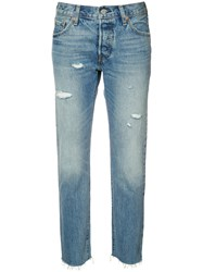 Levi's Cropped Tapered Jeans Blue