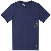 Denim By Vanquish And Fragment Pocket Tee Blue