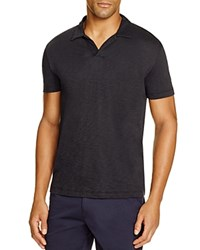 Theory Willem Nebulous Cotton Slim Fit Polo Black