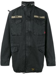 Wtaps M65 Military Jacket Men Cotton Xl Blue