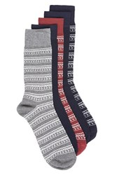 Topman Men's 5 Pack Geometric Socks