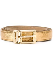 Dolce And Gabbana Classic Belt Metallic