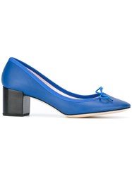 Repetto Chunky Heel Pumps Blue