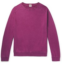 Massimo Alba Garment Dyed Cotton And Cashmere Blend Sweater Purple