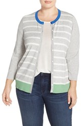 Plus Size Women's Halogen Three Quarter Sleeve Cardigan