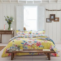 Joules Whitstable Floral Duvet Cover Yellow