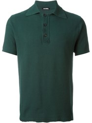 Raf Simons Polo With Destroyed Hemline Green