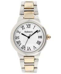 Styleandco. Style And Co. Women's Two Tone Bracelet Watch 35Mm Sy009sg Only At Macy's