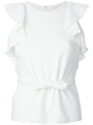 Giambattista Valli Ruffled Sleeve Tank