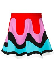 Emilio Pucci Colour Block Mini Skirt Women Nylon Spandex Elastane Rayon 40