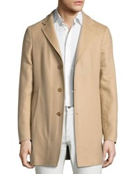 Loro Piana Short Cashmere Three Button Coat Beige