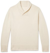 Anderson And Sheppard Shawl Collar Cashmere Sweater Neutrals