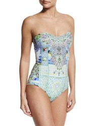 Camilla Embellished Bandeau One Piece Swimsuit My Majorelle My Marjorelle