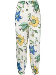 Tory Burch Elasticated Floral Print Trousers 60
