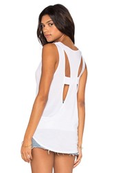Lanston Cutout Back Tank White