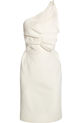 Roland Mouret One Shoulder Wool Blend Dress