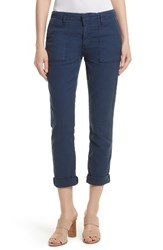 Joie Women's Painter Cotton And Linen Pants Washed Dark Navy