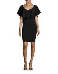 Betsy And Adam Crochet Accented Popover Dress Black
