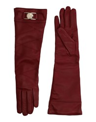Versace Collection Gloves Maroon