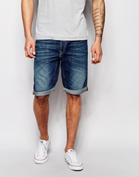 Lee Denim Shorts Straight Fit Stream Bed Dark Wash L724dels