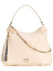 Class Roberto Cavalli 'Glam Rock' Bag Women Nylon Pvc One Size Nude Neutrals