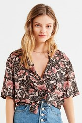 Urban Outfitters Uo Souvenir Button Down Shirt Pink