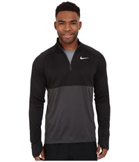 Nike Racer Half Zip Black Anthracite Reflective Silver Men's Long Sleeve Pullover
