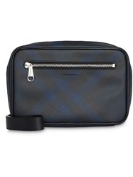 Burberry London Check Travel Pouch Blue