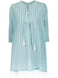 Piamita Geometric Print Tunic Dress Blue