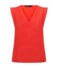 Maje Lustra Silk Shell Top Red