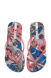 Ipanema Beauty Print Flip Flop Grey Pink