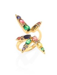 Nikos Koulis Spectrum Brown Diamond Tsavorite Iolite Pink Tourmaline Yellow Beryls And Rhodolite Ring Gold Multi