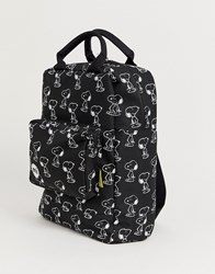Mi Pac X Peanuts Outline Tote Decon Backpack In Black 15L