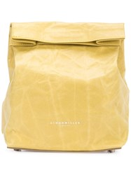 Simon Miller Roll Top Clutch Bag Yellow And Orange
