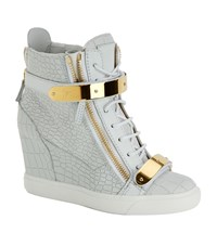 Giuseppe Zanotti Mock Croc Wedge Sneaker Female White