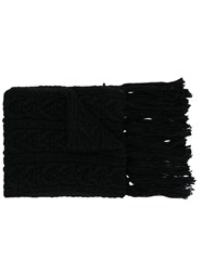 Barena Cable Knit Scarf Black