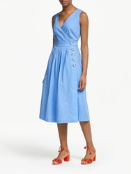 Boden Arwen Midi Dress Hazy Blue