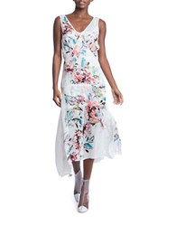 Tracy Reese Soft Silk Frock Dress Drifting Floral