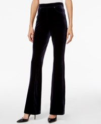 Inc International Concepts Velvet Pull On Flare Leg Pants Only At Macy's Deep Twilight