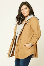 Forever 21 Plus Size Hooded Utility Jacket