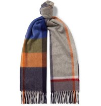 Begg And Co Arran Fringed Checked Cashmere Scarf Multi