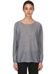 Max Mara Cashmere Knit Sweater Grey